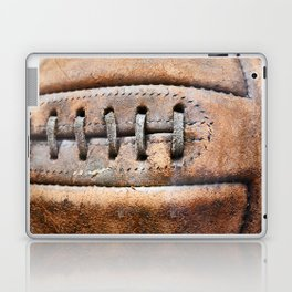 Old leather soccer ball Laptop & iPad Skin