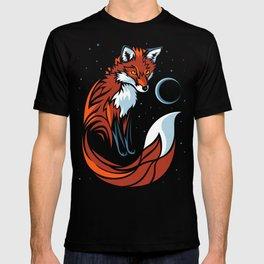 Tribal fox Long tail T-shirt