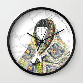 China con manta Wall Clock