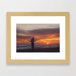 A invincible woman in a invincible summer Framed Art Print