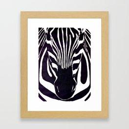Zebra Painting  Framed Art Print