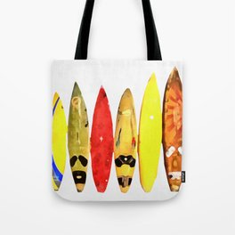 Surf Boards Painting Tote Bag