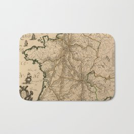 Map Of France 1632 Bath Mat