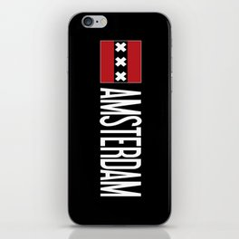 Netherlands: Amsterdam Flag & Amsterdam iPhone Skin