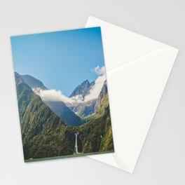 Majestic Stirling Falls, Milford Sound, Fiordland, South Island, New Zealand Stationery Cards