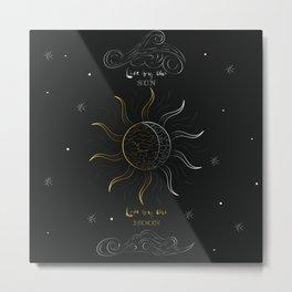 Sun and Moon love Metal Print