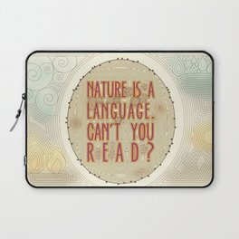 Nature is a Language: The Smiths Lyrics Laptop Sleeve