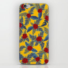 Abstract roses and leaves pattern iPhone Skin