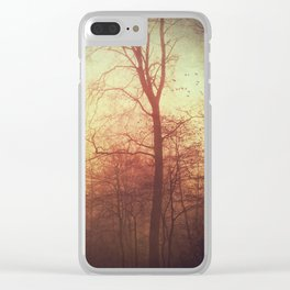 filigree And shadow Clear iPhone Case