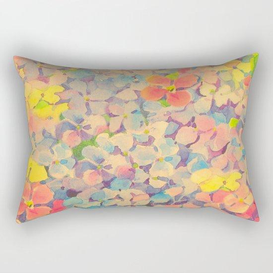 Summer Time Floral  Rectangular Pillow