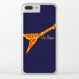 If Music Be the Food Of Love, Play On! Clear iPhone Case