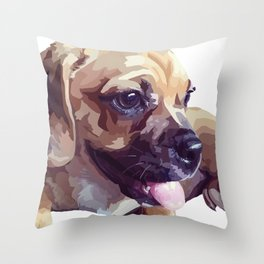 Rubie Dawg Throw Pillow