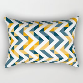Chevron Oranges and Ink - Geometric Pattern Rectangular Pillow