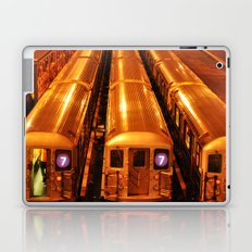 New York Queens Subway 7 Train Yard Laptop & iPad Skin