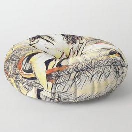 6170s-KD Mirror Reflections Erotic Art in the style of Wassily Kandinsky Floor Pillow