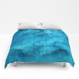 Watercolor ocean Comforters