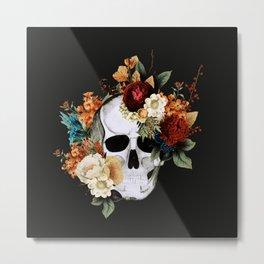 Sugar Skull (Fall) Metal Print