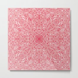 Gentle Rose Gold Mandala - Painterly Textyre Metal Print