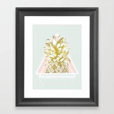 Golden Pineapple Framed Art Print