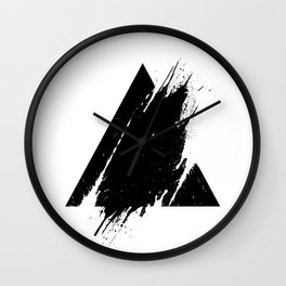 Splashed Triangle Wall Clock