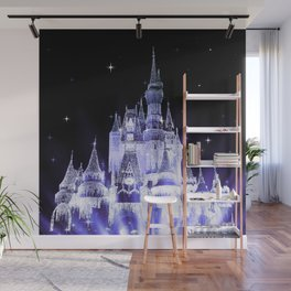 Enchanted Castle Periwinkle Lavender Wall Mural