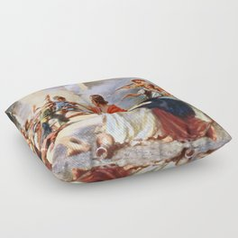 Battle of the Alamo by Percy Moran (1912) Floor Pillow