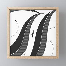 Letter H - Script Lettering Cropped Design Framed Mini Art Print
