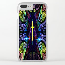 Heavenly Stained Glass Clear iPhone Case