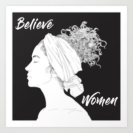 Believe Women Art Print