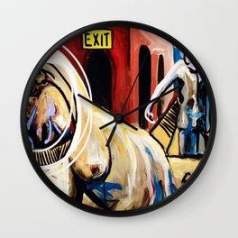 Exit Stage Left Wall Clock