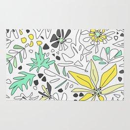Retro flower pattern 2 Rug