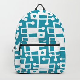Mid Century Modern Abstract 214 Turquoise Backpack