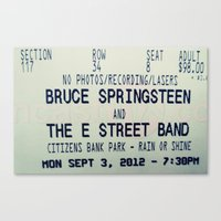 springsteen Canvas Prints featuring Bruce Springsteen & the E Street Band: Rain or Shine by Christine Leanne