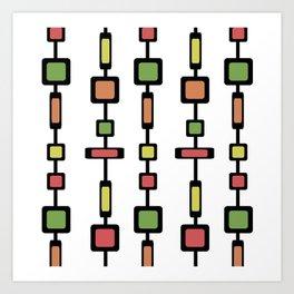 Mid Century Squares Art Art Print