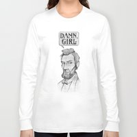 lincoln Long Sleeve T-shirts featuring Damn, Lincoln by dellydel