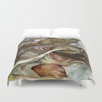 shopping Duvet Covers featuring Ants/Shopping  by Andreas Derebucha