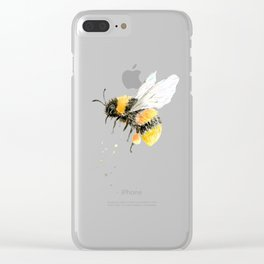 Watercolor Painting bumble bee Clear iPhone Case