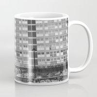 brussels Mugs featuring Brussels looking like east Berlin by SpaceoperaImage