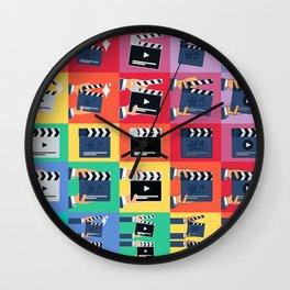 Filmmaker Clapper Slate Wall Clock