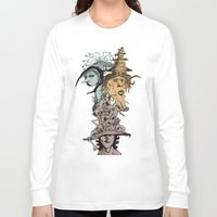 hats Long Sleeve T-shirts featuring Monster Hats  by Quirkyjoe