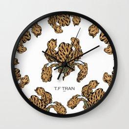 LEOPARD IRIS Wall Clock