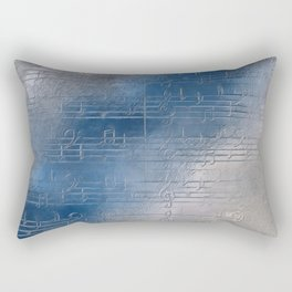 Silver music Rectangular Pillow