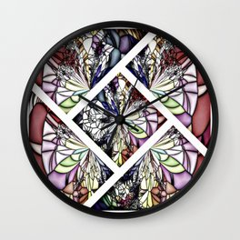 Shattered Pieces Wall Clock