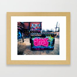 Amazed Grafitti Framed Art Print