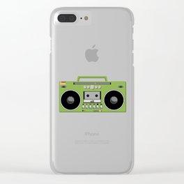 Retro Ghetto Blaster Clear iPhone Case