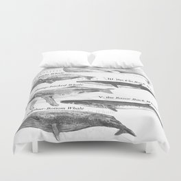 I. The Folio Whale Duvet Cover