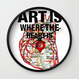 Art Is Where The Heart Is Wall Clock