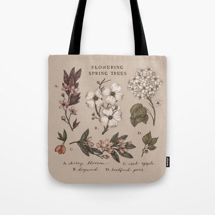 Flowering Spring Trees Tote Bag