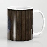 skyrim Mugs featuring Shield's of Skyrim - Falkreath by VineDesign