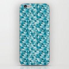 Geometric in Peacock Blue iPhone & iPod Skin